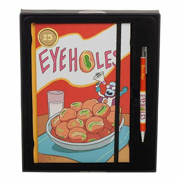 Rick and Morty Eyeholes Cereal Journal Pen Set Novelty Gift Set