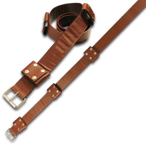 SE 7070 - Medieval leather back hanger baldric sword belt