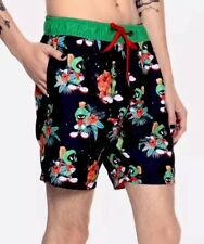 Men's Looney Tunes Marvin The Martian Swim Trunks Watershort Swim Suit