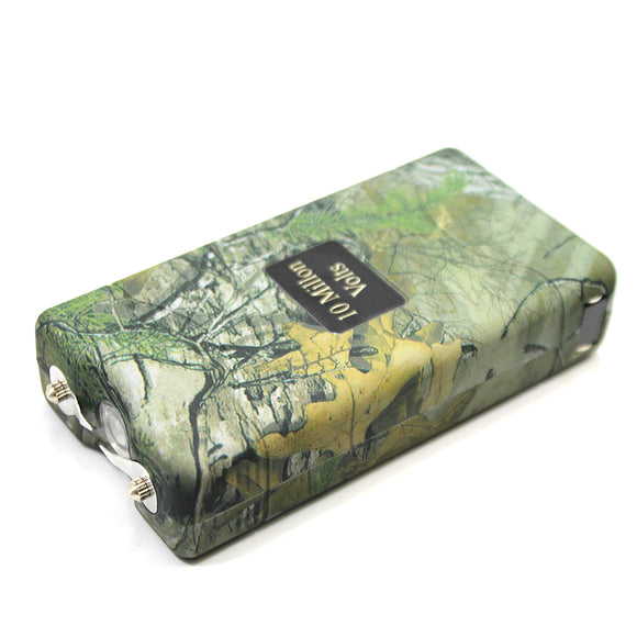 ST 7500-GF 10 Million Kilo-volt Forest Green Camo Stun Gun LED Light with Nylon Case