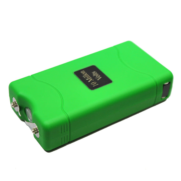 ST 7500-GN 10 Million Kilo-volt Green Stun Gun LED Light with Nylon Case