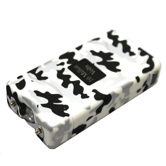 ST 7500-WCM 10 Million Kilo-volt White Camo Stun Gun LED Light with Nylon Case