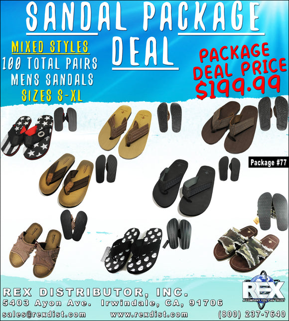 Package Deal #77 - Mens Sandal Slides Package Deal