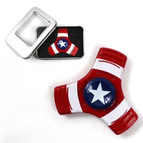 Superhero Alloy American Pride USA Spinner Metal Heavy Duty with Tin Box