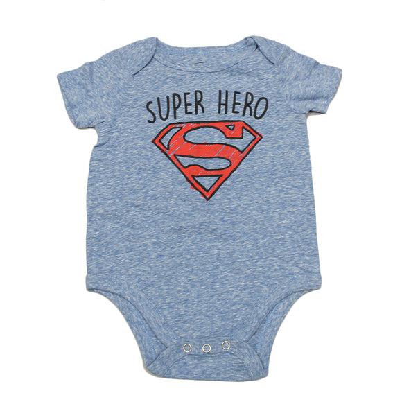 Baby Superman Super Hero  Short Sleeve Bodysuits