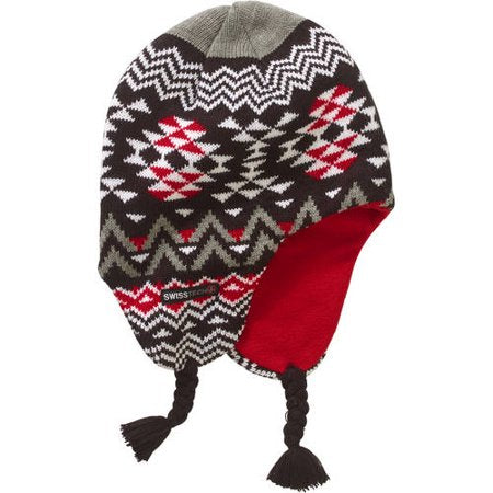 Boys Youth Swiss Tech Knit Fair Isle Peruvian Winter Hat