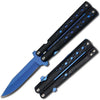 "T 27154-BL 8.5"" Blue Spring Assist Open Folding Knife"