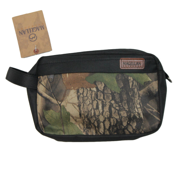 Mens Black Wood Camo Magellan Mini Travel Bag