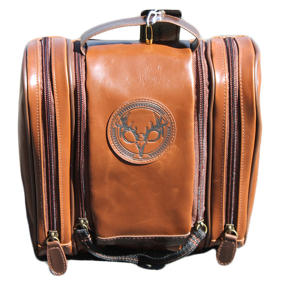 Brown Satchel Bag with Deer Stag Logo