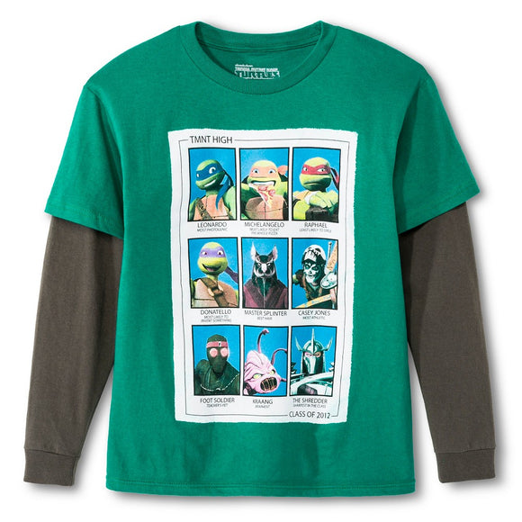 Boys Teenage Mutant Ninja Turtles Class of 2012 TMNT High Long Sleeve Shirt
