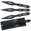 "TK 059-803BK Crossfire Rtek 8"" 3 piece Spider Throwing Knives Set Black Widow"