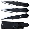 "TK 201-803BK Three piece 8"" throwing knife set"