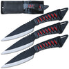 "TK 269-310 10"" 3PCS Metal Handle Throwing Knife Set"