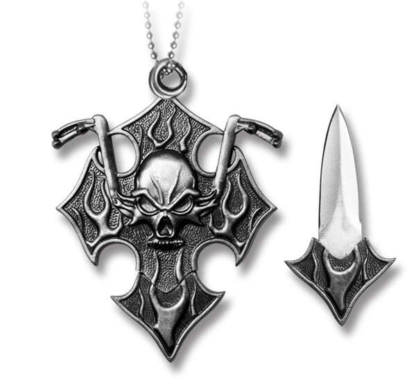 TR 0113 Skull Neck Chain Knife