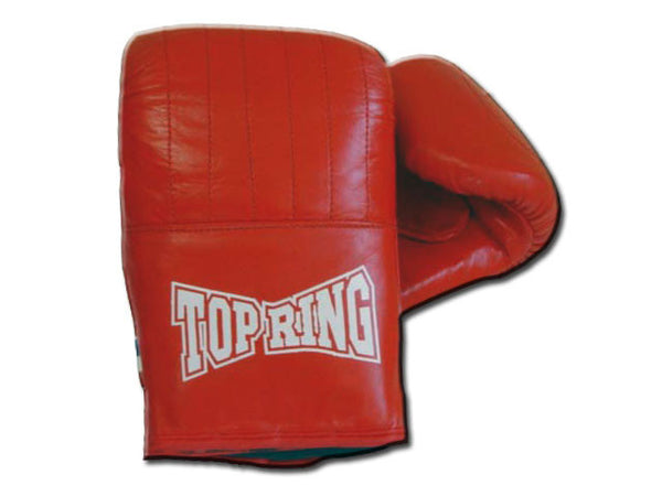 TR 399-RD Top Ring Red Leather Punching Bag Training Gloves