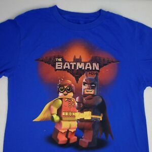 Men's Blue Lego Batman Movie Robin Tee T-Shirt