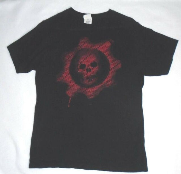 Mens Black Gears of War Skull COG Tee T-Shirt