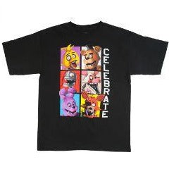 Boys Five Nights at Freddy's Celebrate Block Graphic Tee T-Shirt