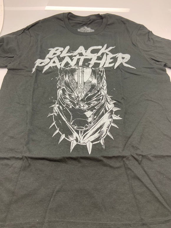 Mens Gray Marvels The Black Panther Graphic Tee T-Shirt
