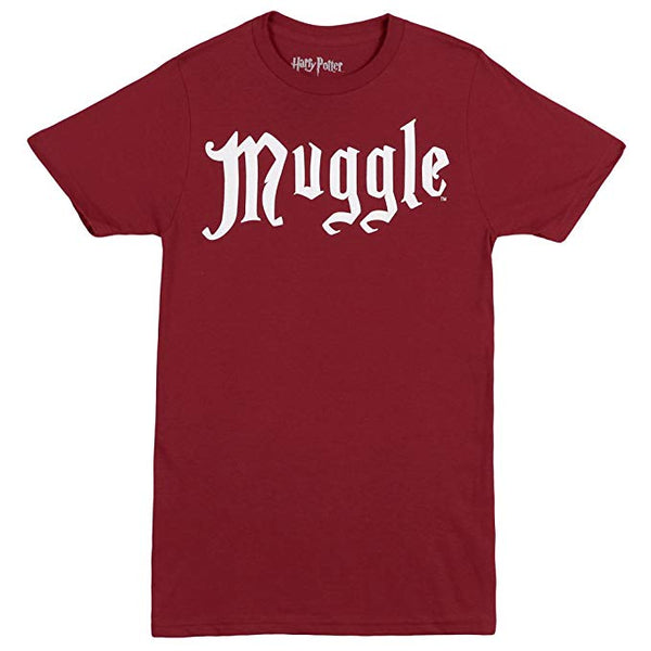Women's Red Harry Potter Muggle Graphic Tee T-Shirt