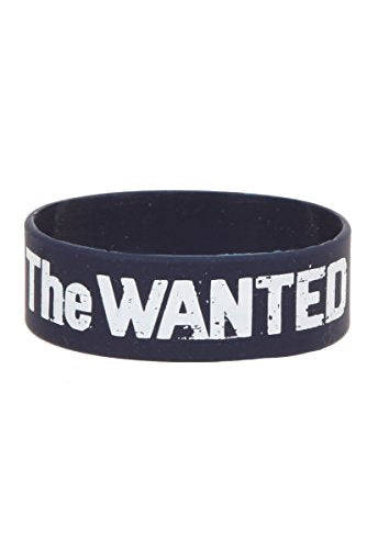 The Wanted Logo Blue Rubber Bracelet