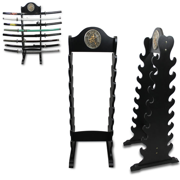 WS 013 - 16 Samurai Sword Wood Stand
