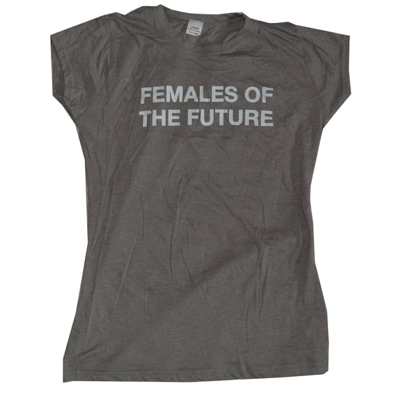 Women Junior's Gray Female of the Future Graphic Tee T-Shirt