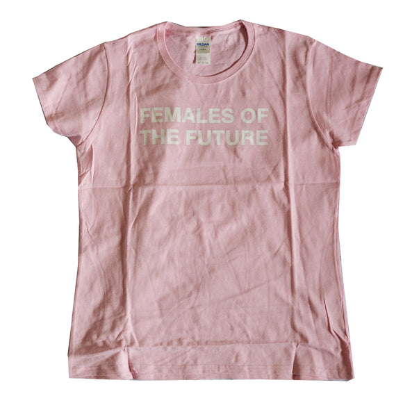 Women Junior's Pink Female of the Future Graphic Tee T-Shirt