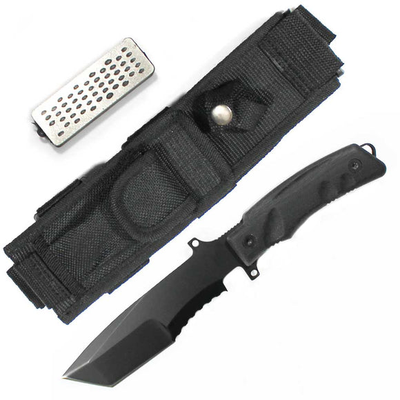 HK 7789-110GT Hunting Knife with Sharpening Stone