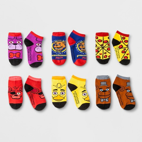 Kids' Five Nights at Freddy's Ankle Socks 6 Pack Set