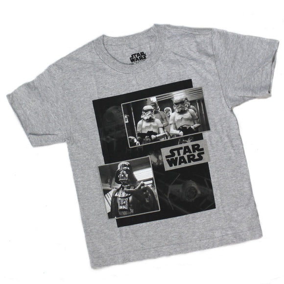 Youth Star Wars Imperial Soldiers Storm Trooper Vader Boys Tee T Shirt