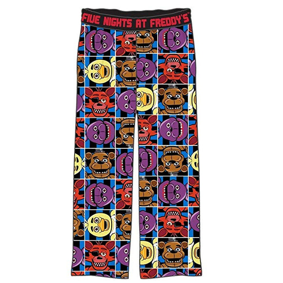 Big Boys Youth Five Nights at Freddy's Character Squares Pajama Lounge Pants
