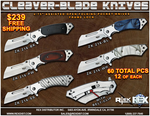 Package Deal #86 Cleaver-Blade Knives - FREE SHIPPING