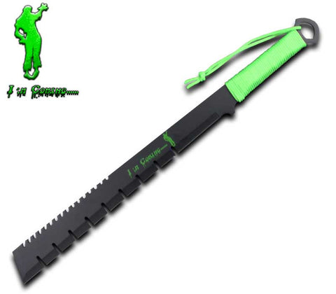 "ZK 0025-IMC - 25"" Zombie Machete with Sheath"