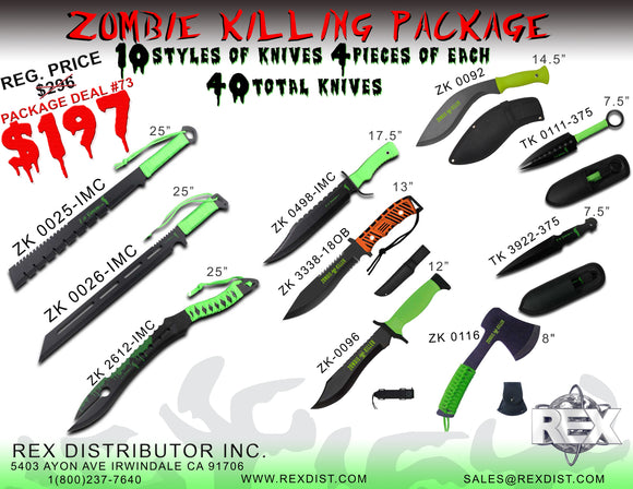 Package Deal #73 Zombie Killing Package