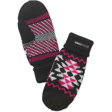Kids Youth Swiss Tech Girls Geo Knit Mitten