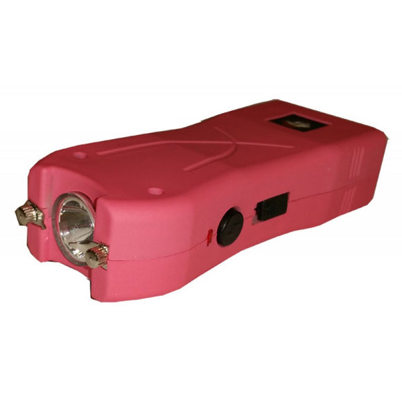 STUN CH-11PN Pink Rechargeable Led Flashlight Stun Gun with Holster