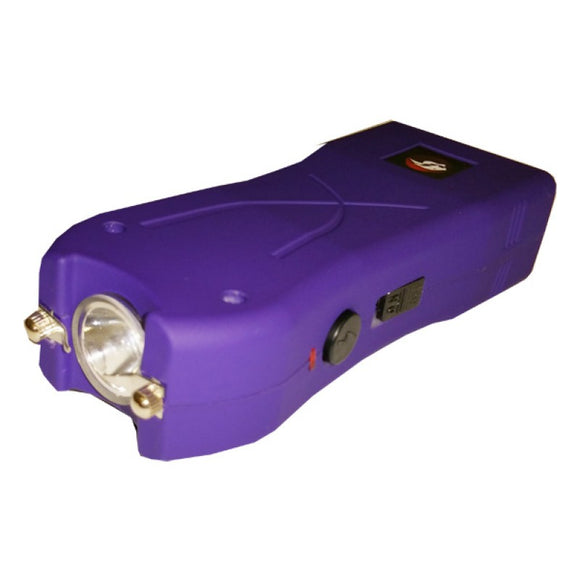 STUN CH-11PR Purple Rechargeable Led Flashlight Stun Gun with Holster