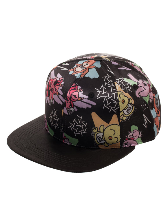 Five Nights at Freddy's Cute Characters Satin Flat Bill Hat Snapback