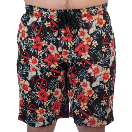 Mens Deadpool Marvel Comics Jam Shorts Lounge