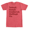 Mens Thanksgiving Shirt Holiday Humor Turkey Gravy Cranberry Tee T Shirt