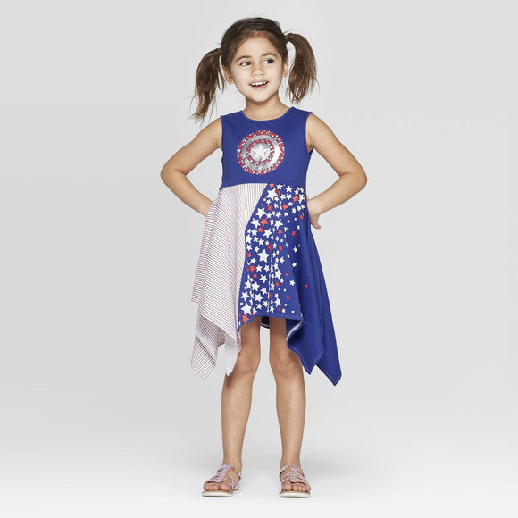 Girls Toddler Marvel Captain America Shield Dress
