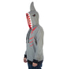 Men's Lightweight Shark Cosplay Zipper Hoodie with Fin and Gill Embellishment