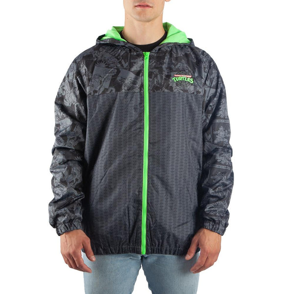 Men's Teenage Mutant Ninja Turtles Lightweight Full Zip Windbreaker Jacket