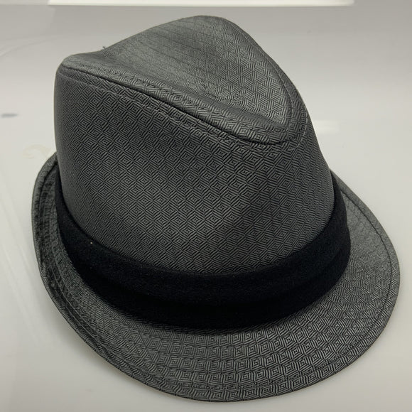 Mens Gray Free Authority Black Band Fedora