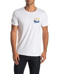Mens Fifth Sun White Valley Crest Short Sleeve Tee T-Shirt