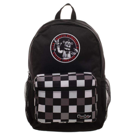 Five Nights at Freddy's Black Checkered Backpack Video Game