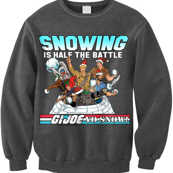 Mens Grey GI Joe Faux Ugly Christmas Sweater Sweatshirt