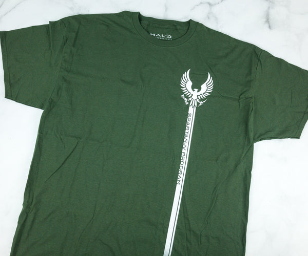 Men's Green Halo Spartan IV Graphic Tee T-Shirt Loot Crate Exclusive