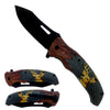 "KS 6309-DR 4.5"" Black Blade Deer Handle Assist Open  Folding Knife"